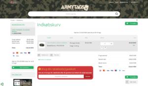 Sådan bruger du din Armytags rabatkode