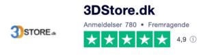 Trustpilot anmeldelser af 3Dstore.dk