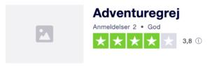 Trustpilot anmeldelser af AdventureGrej.dk