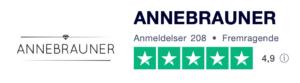 Trustpilot anmeldelser af Annebrauner.dk