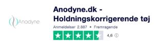 Trustpilot anmeldelser af Anodyne.dk