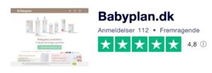 Trustpilot anmeldelser af Babyplan.dk
