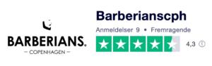 Trustpilot anmeldelser af BarberiansCph.com