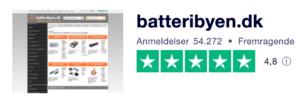 Trustpilot anmeldelser af Batteribyen.dk