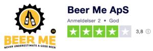 Trustpilot anmeldelser af Beer-Me.dk