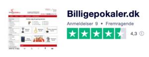 Trustpilot anmeldelser af Billigepokaler.dk