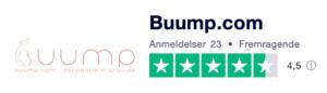 Trustpilot anmeldelser af Buump.com
