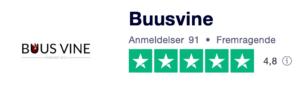 Trustpilot anmeldelser af BuusVine.dk