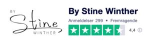Trustpilot anmeldelser af ByStineWinther.dk