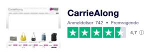 Trustpilot anmeldelser af CarrieAlong.dk