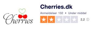 Trustpilot anmeldelser af Cherries.dk