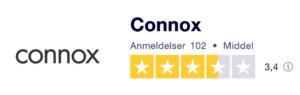 Trustpilot anmeldelser af Connox.dk