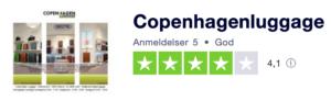 Trustpilot anmeldelser af CopenhagenLuggage.dk