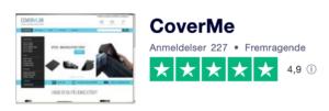 Trustpilot anmeldelser af CoverMe.dk