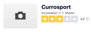 Trustpilot anmeldelser af Currosport.dk