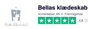 Trustpilot anmeldelser af BellasKlaedeskab.dk