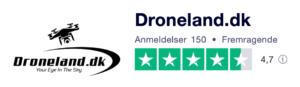 Trustpilot anmeldelser af Droneland.dk