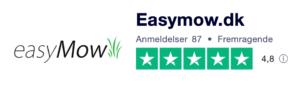 Trustpilot anmeldelser af EasyMow.dk