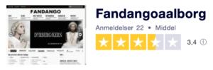 Trustpilot anmeldelser af FandangoAalborg.dk