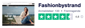 Trustpilot anmeldelser af FashionbyStrand.com