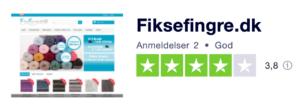 Trustpilot anmeldelser af FikseFingre.dk