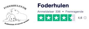 Trustpilot anmeldelser af Foderhulen.dk