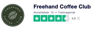 Trustpilot anmeldelser af FreehandCoffeeClub.dk