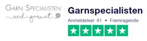 Trustpilot anmeldelser af GarnSpecialisten.dk