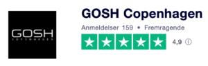 Trustpilot anmeldelser af GoshCopenhagen.dk