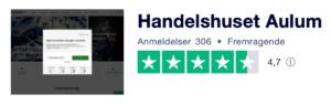 Trustpilot anmeldelser af HandelshusetAulum.dk