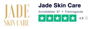 Trustpilot anmeldelser af JadeSkinCare.dk