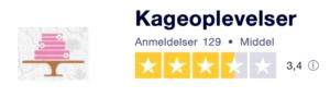 Trustpilot anmeldelser af KageOplevelser.dk