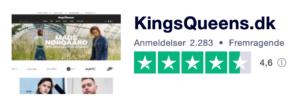 Trustpilot anmeldelser af KingsQueens.dk
