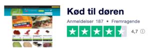 Trustpilot anmeldelser af KødTilDøren.dk