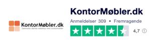 Trustpilot anmeldelser af KontorMøbler.dk
