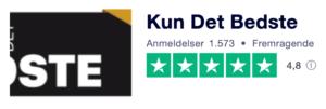Trustpilot anmeldelser af KunDetBedste.com