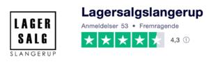 Trustpilot anmeldelser af LagersalgSlangerup.dk