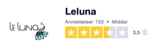 Trustpilot anmeldelser af Leluna.dk