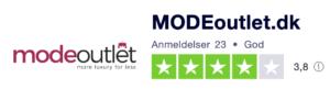 Trustpilot anmeldelser af Modeoutlet.dk