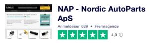 Trustpilot anmeldelser af NAP.dk