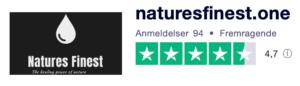 Trustpilot anmeldelser af NaturesFinest.one