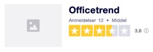 Trustpilot anmeldelser af OfficeTrend.dk