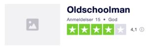 Trustpilot anmeldelser af Oldschoolman.dk