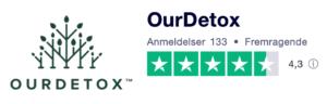 Trustpilot anmeldelser af OurDetox.dk