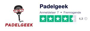Trustpilot anmeldelser af Padelgeek.com