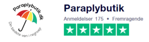 Trustpilot anmeldelser af Paraplybutik.dk