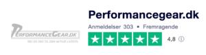 Trustpilot anmeldelser af PerformanceGear.dk