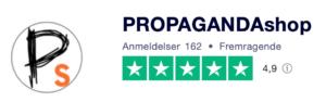 Trustpilot anmeldelser af Propagandashop.dk