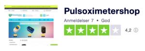 Trustpilot anmeldelser af Pulsoximetershop.dk