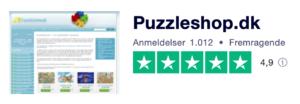 Trustpilot anmeldelser af Puzzleshop.dk